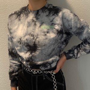 Volcom cropped crew neck sweater